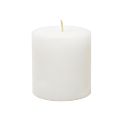 "3"" x 6"" Round Unscented Pillar Candle - White"