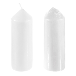 "12 pcs 12"" Unscented Taper Candles - White"