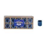 "Mega Candles - 10 pcs Ceramic 1/2"" Chime / Spell Candle Holder - Dark Blue"