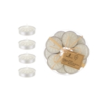 Mega Candles -15 pcs Unscented Tea Light Candle in Round Clear Box - White