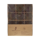 Mega Candles -12 pcs Glass Container in Brown Box - Clear