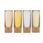 "Mega Candles - 4 pcs 2"" x 5"" Scented Pillar Candle in Brown Box - Asst"