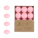 "Mega Candles - 12 pcs 1.5"" Unscented Floating Disc Candle in Brown Box - Lavander"