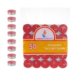 50 pcs Unscented Tea Light Candle in Bag - Red