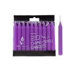 "Mega Candles - 20 pcs 4"" Unscented Chime / Spell Chime Candle - Lavander"