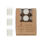 12 pcs Unscented Mini Glass Container Candle in Box - White
