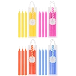 "Mega Candles - 3 pcs 8"" Scented Candlestick in Hanging PVC Bag - Asst"