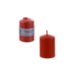 "Mega Candles - 2"" x 3"" Unscented Dome Top Press Pillar Candle - Red"