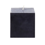 "Mega Candles - 3"" x 3"" Unscented Square Pillar Candle - Black"