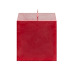 "Mega Candles - 3"" x 3"" Unscented Square Pillar Candle - Red"