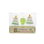 3 pcs Happy Birthday Cake and Balloon Party Pick Candle in Clear Box - Asst