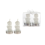 Mega Candles-2 pcs Baby Angel Tealight Candle in Clear Box - White