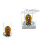 Lady Guadalupe Poly Resin Candle Set in Gift Box - White
