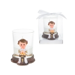 Baby Toddler Preaching Poly Resin Candle Set in Gift Box - Pink