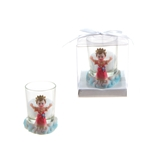 Mega Favors - Baby El Nino Poly Resin Candle Set in Gift Box - White