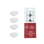 Mega Candles - 10 pcs Unscented Tea Light Candle - White