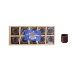 "Mega Candles - 10 pcs Ceramic 1/2"" Chime / Spell Candle Holder - Brown"