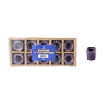 "Mega Candles - 10 pcs Ceramic 1/2"" Chime / Spell Candle Holder - Dark Purple"