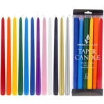 "Mega Candles - 12 pcs 12"" Unscented Taper Candle - Asst"