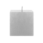 "Mega Candles - 3"" x 3"" Unscented Square Pillar Candle - Silver"