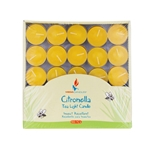 Mega Candles - 100 pcs Citronella Tea Light Candle in Box - Yellow