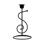 Mega Candles - Taper Metal Candle Holder - Black