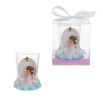 Mega Favors - Angel Praying on Clouds Poly Resin Candle Set in Gift Box - Pink