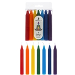 "Mega Candles - 14 pcs 4"" Unscented Chakra Straight Taper Candle - Asst"