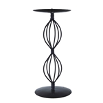 Mega Candles  - Pillar / Round Metal Candle Holder - Black