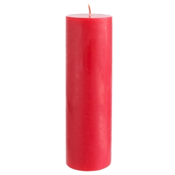 "Mega Candles - 3"" x 9"" Unscented Round Pillar Candle - Red"