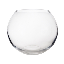 "Mega Vases - 10"" x 8.25"" Fish Bowl Glass Vase - Clear"