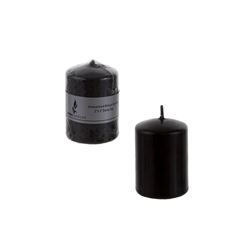 "Mega Candles - 2"" x 3"" Unscented Dome Top Press Pillar Candle - Black"