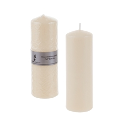 "Mega Candles - 2"" x 6"" Unscented Dome Top Press Pillar Candle - Ivory"