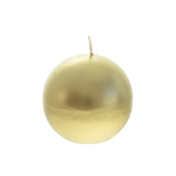 "Mega Candles - 3"" Unscented Round Ball Candle - Gold"