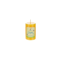 "Mega Candles - 2"" x 3"" Round Citronella Pillar Candle in Shrink Wrap - Yellow"