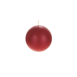 "Mega Candles - 4"" Unscented Round Ball Candle - Red"