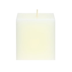 "Mega Candles - 3"" x 3"" Unscented Square Pillar Candle - Ivory"