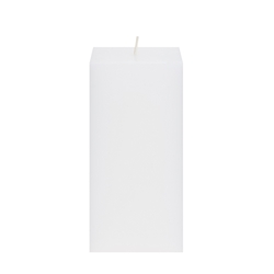 "Mega Candles - 3"" x 6"" Unscented Square Pillar Candle - White"