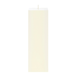 "Mega Candles - 3"" x 9"" Unscented Square Pillar Candle - Ivory"