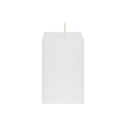 "Mega Candles - 2"" x 3"" Unscented Square Pillar Candle - White"