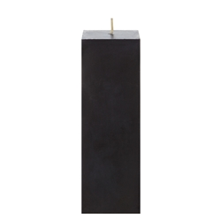 "Mega Candles - 2"" x 6"" Unscented Square Pillar Candle - Black"