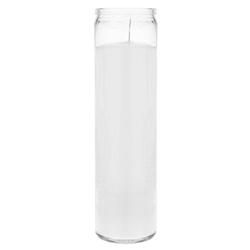 "Mega Candles - 2"" x 8"" Unscented Tall Prayer Container Candle - White"