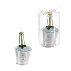 Mega Candles -Champagne Bottle in Bucket of Ice Candle in Gift Box