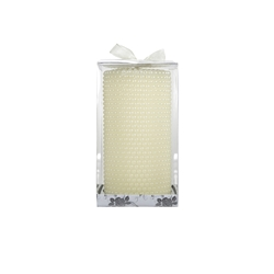 "Mega Candles - 3"" x 6"" Unscented Round Pearl Pillar Candle - Ivory"