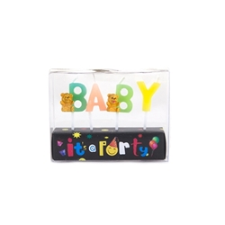Mega Candles - Baby Phrase Party Pick Candle in Clear Box - Asst