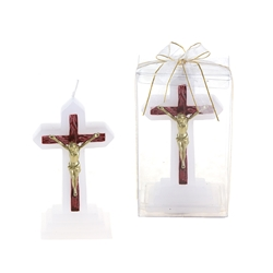 Mega Candles - Jesus on Cross Candle in Gift Box - Gold