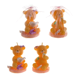 Mega Candles - Teddy Bear in Various Positions Candle - Pink