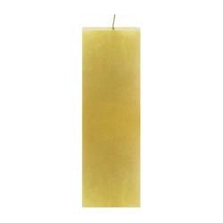 "Mega Candles - 3"" x 9"" Unscented Square Pillar Candle - Gold"