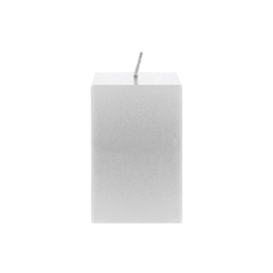 "Mega Candles - 2"" x 3"" Unscented Square Pillar Candle - Silver"