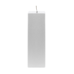 "Mega Candles - 2"" x 6"" Unscented Square Pillar Candle - Silver"
